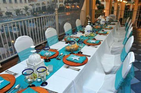 island themed home decor wedding reception decor ideas home starfish and table