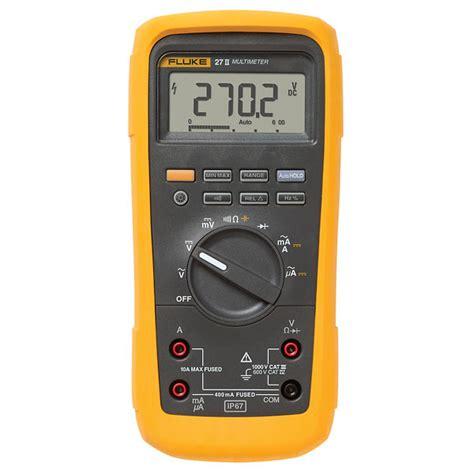 Multitester Fluke 87v fluke 27 ii rugged ip67 industrial multimeter from cole parmer