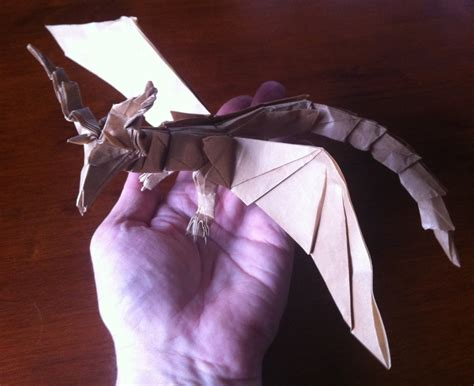 Origami Darkness - 415 smaug the golden setting the crease