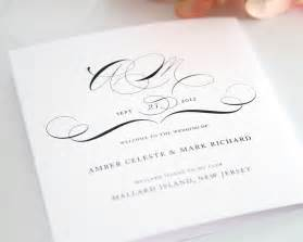 vintage wedding programs vintage class design wedding programs by shine
