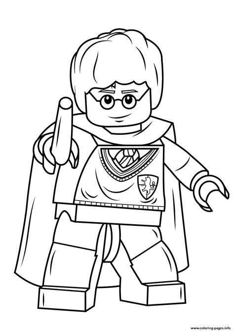 lego world coloring pages print lego harry potter with wand coloring pages lego
