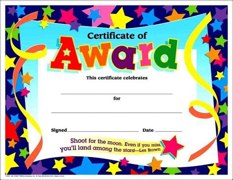 printable free certificates free printable certificates and awards template