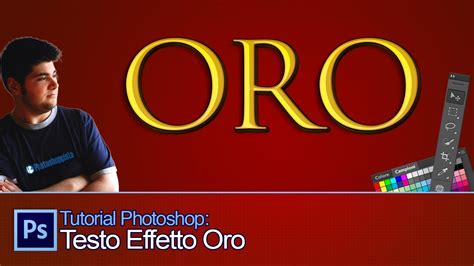 lettering tutorial italiano tutorial photoshop testo effetto oro gold text effect