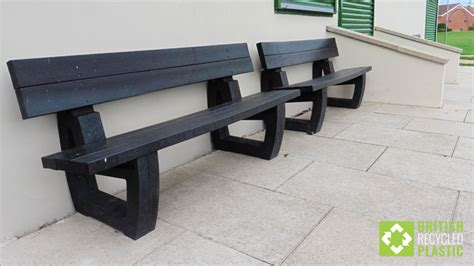 recycled plastic benches for schools harewood benches knock cricket clubs for six british
