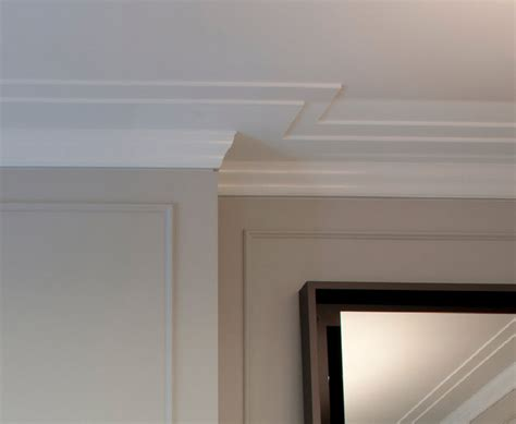 modern molding and trim crown molding detail closeup reveal transitional