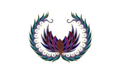 Bunga Cantel Putih motif batik sawat asal daerah pekalongan motif batik