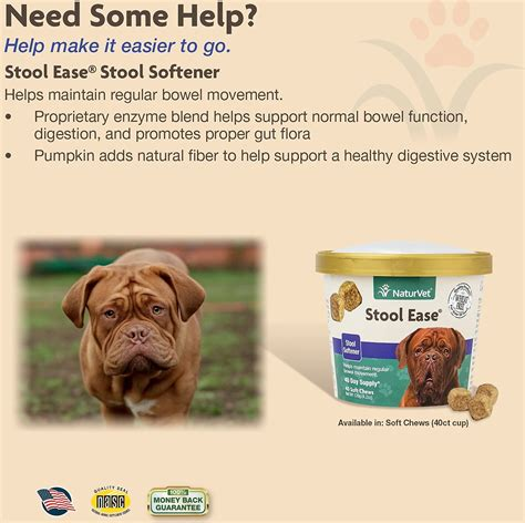 Soft Stool Dogs by Naturvet Stool Ease Soft Chews 40 Count Chewy