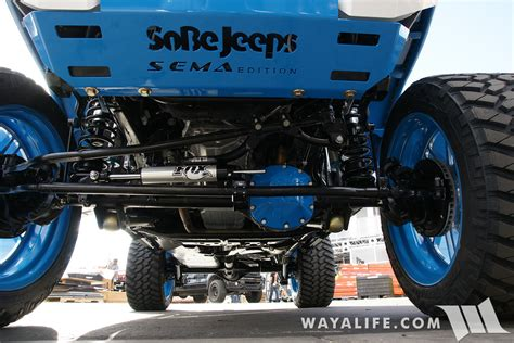 white and blue jeep sema 2016 sobecustoms blue white jeep jk wrangler unlimited