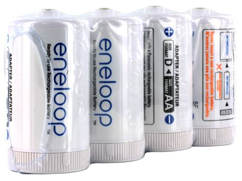 d cell panasonic eneloop d cell spacer aa battery converters 4 pack