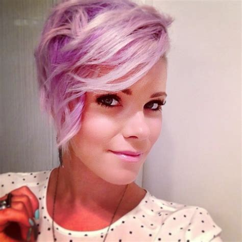 faded colour hairstyles purple hair genevieve warburton