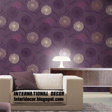 purple living room wallpaper modern living room wallpaper design ideas interior international decoration
