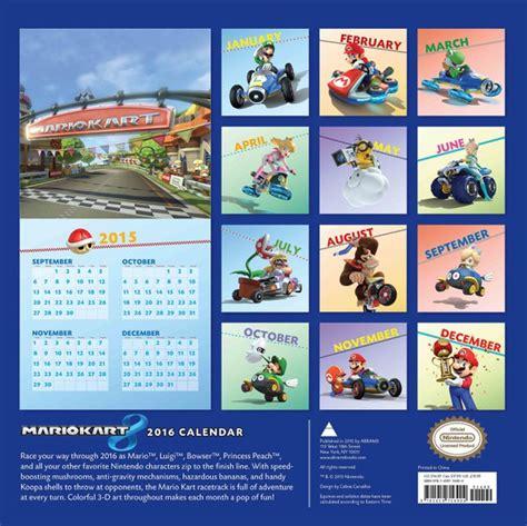 Calendario Kart 2016 Mario Kart 8 Calendar 2016 Nintendo Uk Store