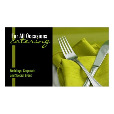 Catering Card Template by Catering Food Business Card Zazzle