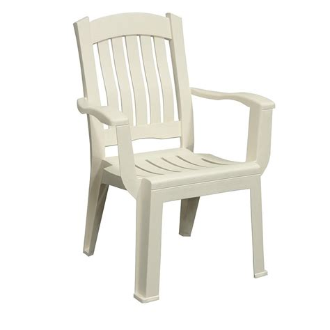 Mfg Corp White Resin Stackable Patio Dining Chair   Shop