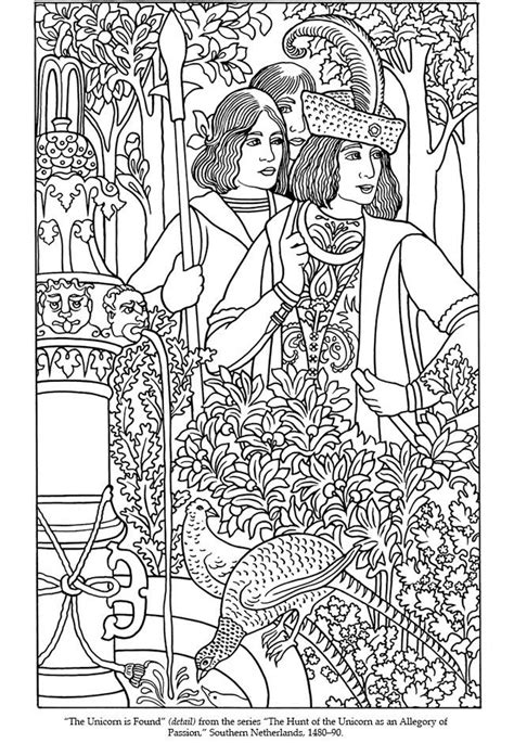 welcome to dover publications medieval tapestries coloring