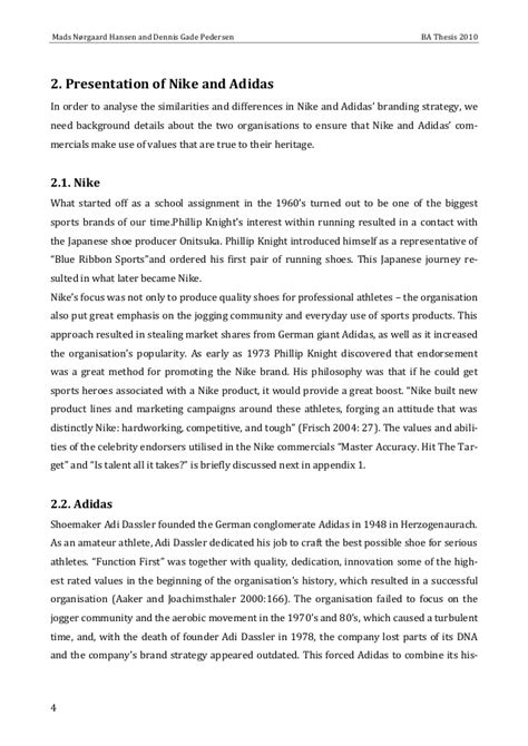 comparitive study of nike and adidas