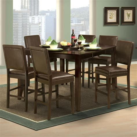 counter height table with upholstered chairs style 19 7 counter height table and