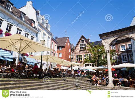 aken koopzondag old town in aachen germany at summertime editorial stock