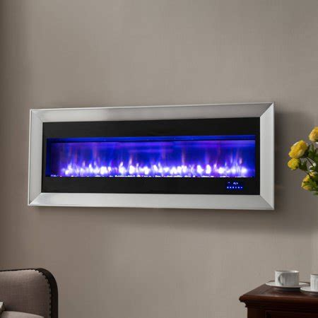 prokonian 63 quot wall mounted electric fireplace with space