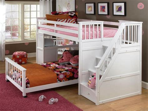 Cheap Bunk Bed With Desk Diy Twin Loft Bed With Desk And Stairs Modern Style Room