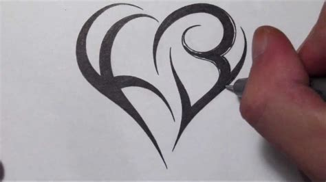 how to make tattoo stencil how to create a using letters tribal initials