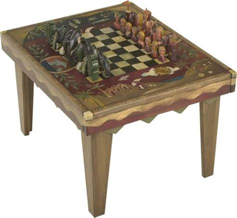 coffee table with chess painted refinished repurposed
