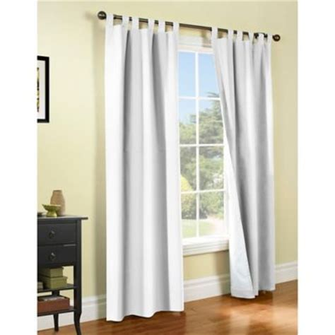 white lined tab top curtains thermalogic 174 weathermate tab top window curtain panel pair