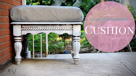 how to make your own bench cushion how to make your own outdoor cushions a v does what