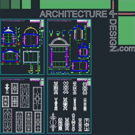 3d Room Design Software Free classical architecture style facades parts for autocad