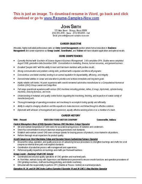 machine operator sle resume sle resume machine operator 28 images nail resume