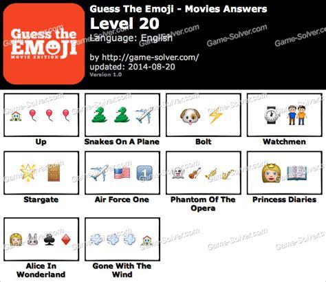film lettre homme emoji quiz guess the emoji movies level 20 game solver