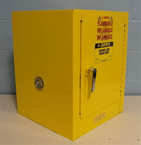 justrite flammable storage cabinet refurbished justrite 25040 flammable liquid storage cabinet