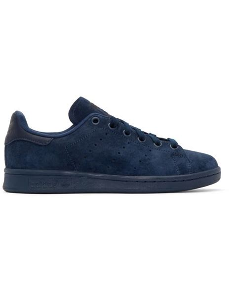 Adidas Flatform Suede 3 adidas originals navy suede stan smith sneakers in blue