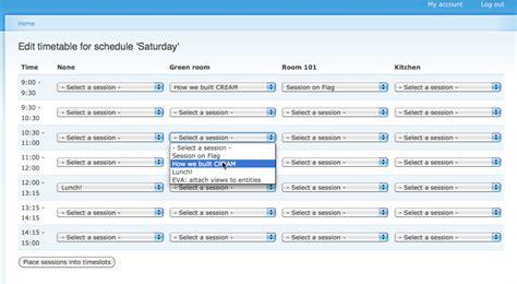 drupal theme table form timetable drupal org