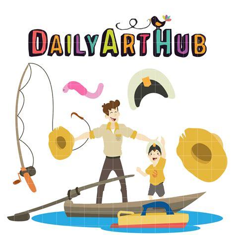 cartoon boat trip father and son boat trip clip art set daily art hub