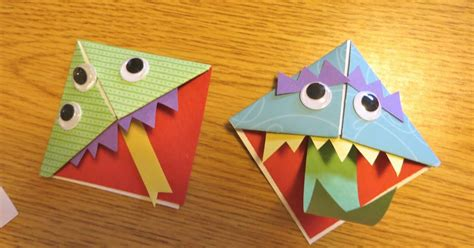 Kindergarten Origami - ms s preschool monsters origami