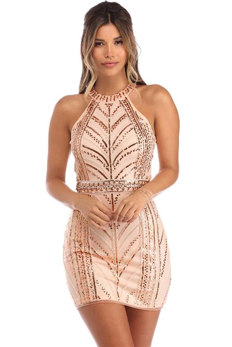 Dress With Sequin terra sleeveless sequin dress