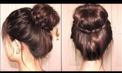 easy sock bun with braid most popular hair beautylish