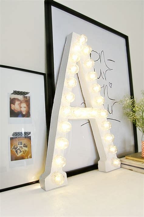 Letter Decoration How To Light Up A Room S D 233 Cor With Marquee Letters