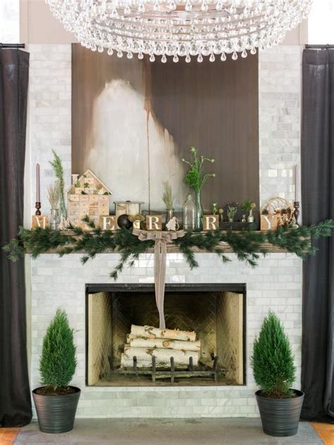 hgtv holiday home decorating one mantel gets three modern holiday makeovers hgtv
