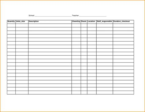 Blank Inventory Sheet Template Inventory Spreadshee Blank Inventory Sheet Template Blank Sheet Template Free