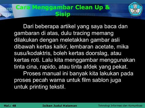 Kertas Doorslag menjelaskan tentang clean up dan sisip ind ppt