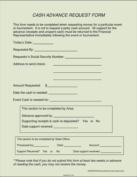 advance form template petty advance form template template update234