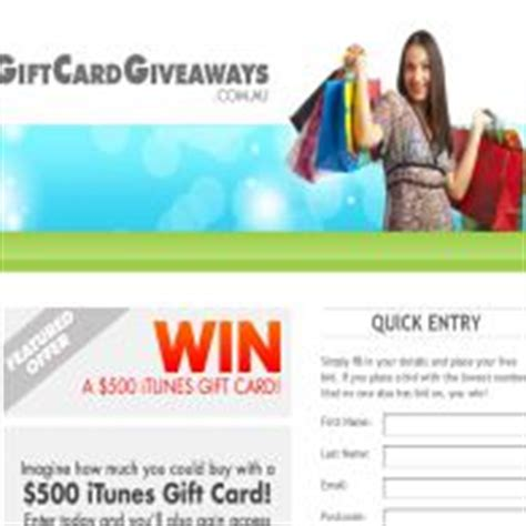 Win Free Itunes Gift Cards - gift card giveaways win a 500 itunes gift card competitions com au