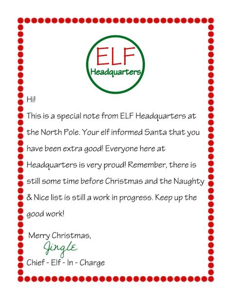 printable elf on the shelf introduction letter from santa letter from elf on the shelf