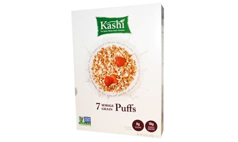 7 whole grain puffs kashi 7 whole grain puffs cereal 6 5 oz pack of 10