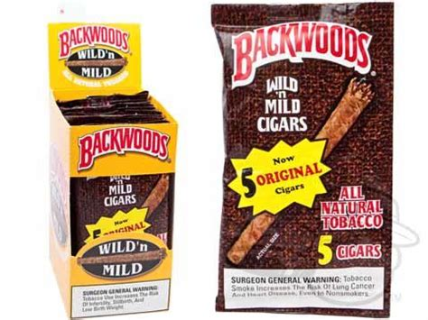 Tembakau Flavor Sweet Aromatic backwoods original n mild pack of 40 4 1 2 x 32 small packs 40 cigarillos best cigar prices