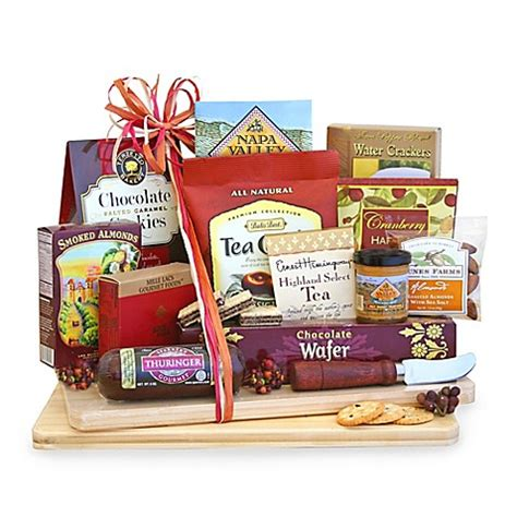 bed bath and beyond gift baskets california delicious deluxe cheese and snack board gift basket bed bath beyond