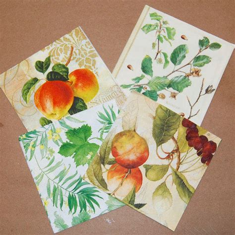 Decoupage With Leaves - decoupage fruit and leaves set 4 paper from craftpapersource