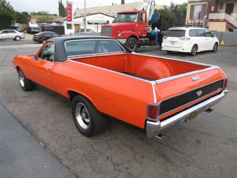 el camino orange seller of classic cars 1968 chevrolet el camino orange
